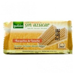 Gullon napolitane dietetic cu vanilie 70g